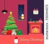christmas room background... | Shutterstock .eps vector #530344072