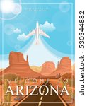arizona vector american poster. ...   Shutterstock .eps vector #530344882