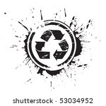 Abstract Grunge Vector Recycle...