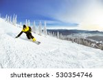 snowboarder downhill from... | Shutterstock . vector #530354746