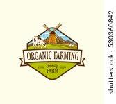 organic fresh product. vector... | Shutterstock .eps vector #530360842