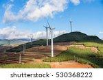 wind turbine production of... | Shutterstock . vector #530368222