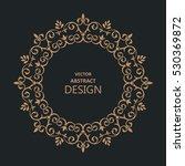 circular baroque pattern. round ... | Shutterstock .eps vector #530369872