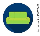 green couch icon in flat style... | Shutterstock .eps vector #530378422