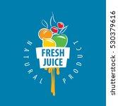 logo of fresh juice | Shutterstock .eps vector #530379616