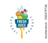 logo of fresh juice | Shutterstock .eps vector #530379736