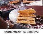 the famous brazilian pasty... | Shutterstock . vector #530381392