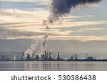 steam and smoke emissions from... | Shutterstock . vector #530386438