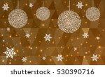 dark orange christmas postcard... | Shutterstock .eps vector #530390716