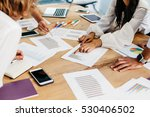 young businesswoman and... | Shutterstock . vector #530406502