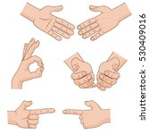 set of vector cartoon hands... | Shutterstock .eps vector #530409016
