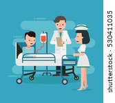 doctor and nurse visiting... | Shutterstock .eps vector #530411035