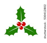 christmas holly berry icon... | Shutterstock .eps vector #530412802