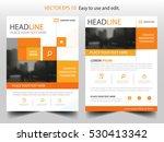 orange square annual report... | Shutterstock .eps vector #530413342
