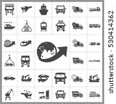 transportation icon vector... | Shutterstock .eps vector #530414362