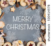 ginger homemade cookies with... | Shutterstock . vector #530414578