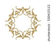 circular abstract floral... | Shutterstock .eps vector #530415112