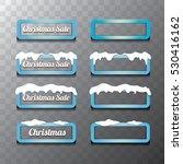 christmas vector blue glossy... | Shutterstock .eps vector #530416162