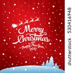 christmas greeting card. merry... | Shutterstock .eps vector #530416948