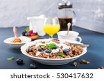 homemade chocolate granola or... | Shutterstock . vector #530417632