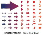 arrow vector 3d button icon set ... | Shutterstock .eps vector #530419162