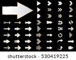 arrow vector silver curve line... | Shutterstock .eps vector #530419225