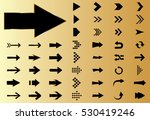 arrow vector black curve line... | Shutterstock .eps vector #530419246