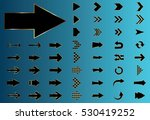 arrow vector black curve line... | Shutterstock .eps vector #530419252