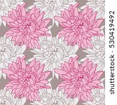 seamless floral wallpaper with... | Shutterstock .eps vector #530419492