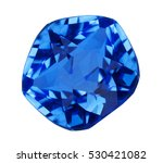 blue sapphire isolated on white ... | Shutterstock . vector #530421082