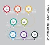 business data process chart.... | Shutterstock .eps vector #530422678