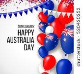 happy australia day 26 january... | Shutterstock .eps vector #530430352