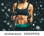 sport. woman sport body strong... | Shutterstock . vector #530439556