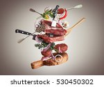 meat and beef meatballs with... | Shutterstock . vector #530450302