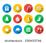flat icon set of christmas | Shutterstock .eps vector #530453746