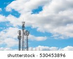 telecommunication tower with... | Shutterstock . vector #530453896