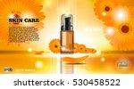 moisturizing lotion cosmetic... | Shutterstock .eps vector #530458522