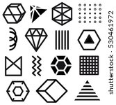 vector set of black geometric... | Shutterstock .eps vector #530461972