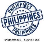 philippines. stamp. blue round... | Shutterstock .eps vector #530464156