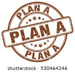 plan a. stamp. brown round... | Shutterstock .eps vector #530464246