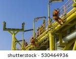 man working overboard. man... | Shutterstock . vector #530464936
