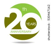 20th years anniversary and... | Shutterstock .eps vector #530467162