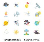 space set of vector icons | Shutterstock .eps vector #530467948