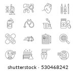 healthcare and medicine set of... | Shutterstock .eps vector #530468242
