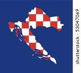 map flag croatia | Shutterstock .eps vector #53047069
