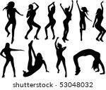 vector dance girls | Shutterstock .eps vector #53048032