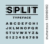 bold font. vector alphabet with ... | Shutterstock .eps vector #530480482