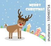 cute reindeer design merry... | Shutterstock .eps vector #530483716