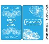 wedding invitation with... | Shutterstock .eps vector #530483926