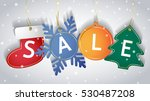 christmas sale tags on a snowy...   Shutterstock .eps vector #530487208